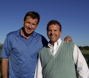 Dr. Gregg with Hall of Famer Nick Faldo